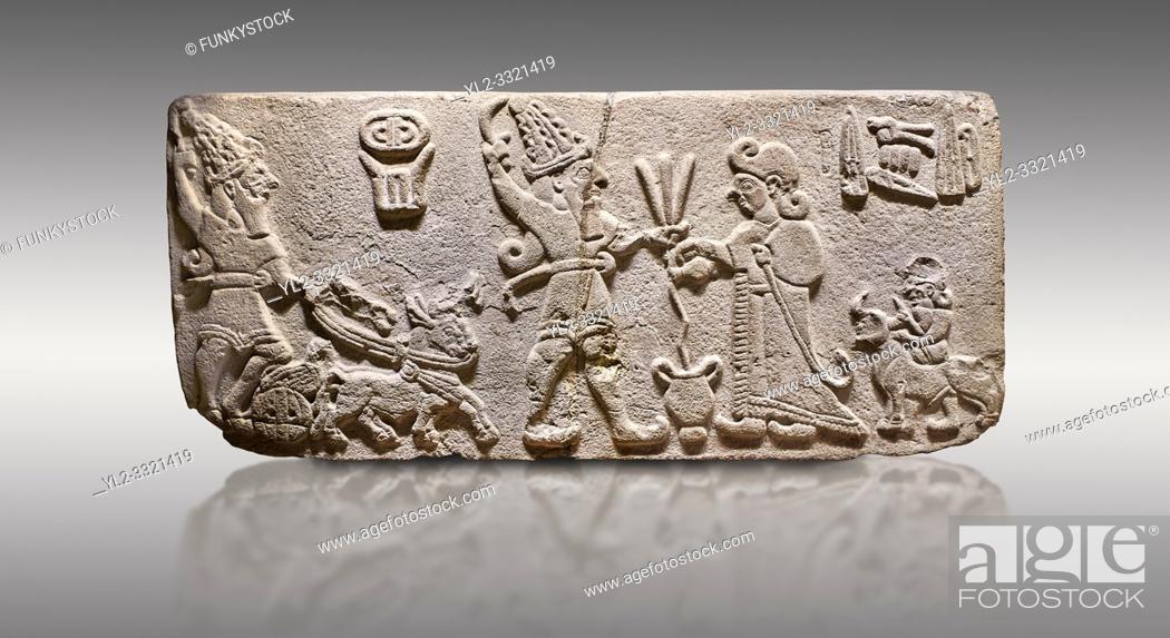 Stock Photo: Aslantepe Hittite Orthostat. Limestone, Aslantepe, Malatya, 1200-700 BC. Anatolian Civilizations Museum, Ankara, Turkey. .