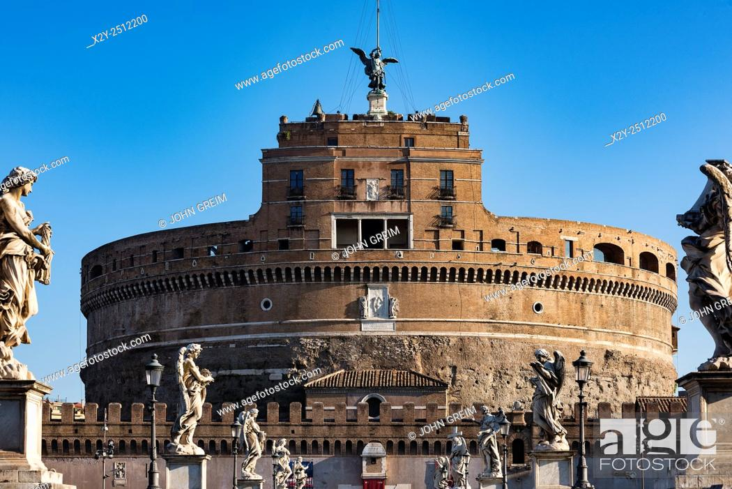 Stock Photo: Castel Sant' Angelo, Castle of the Holy Angel, Rome, Italy.