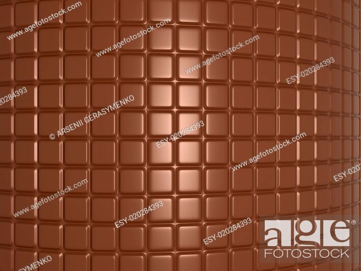 Stock Photo: Bent chocolate bar.