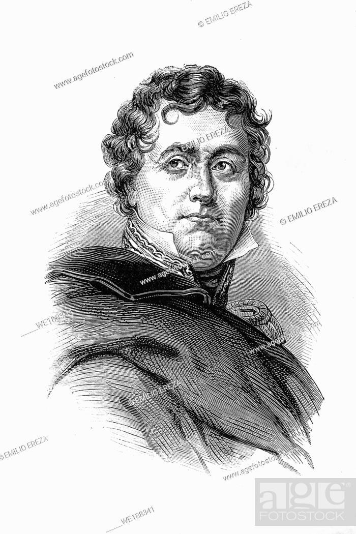 Imagen: Jean-de-Dieu Soult. Marshal general, Duke of Dalmatia. Napoleonic wars. 1769-1851. Antique illustration. 1890.
