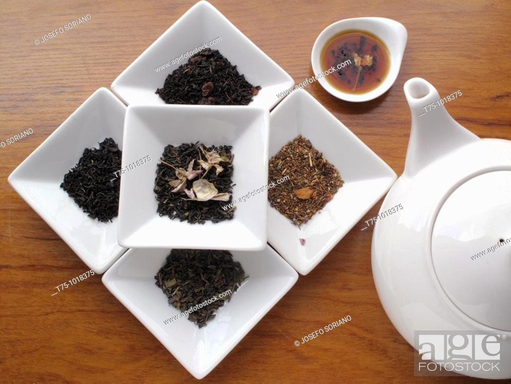 Stock Photo: Teas variety.