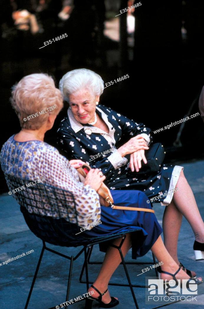 Stock Photo: Elderly women.