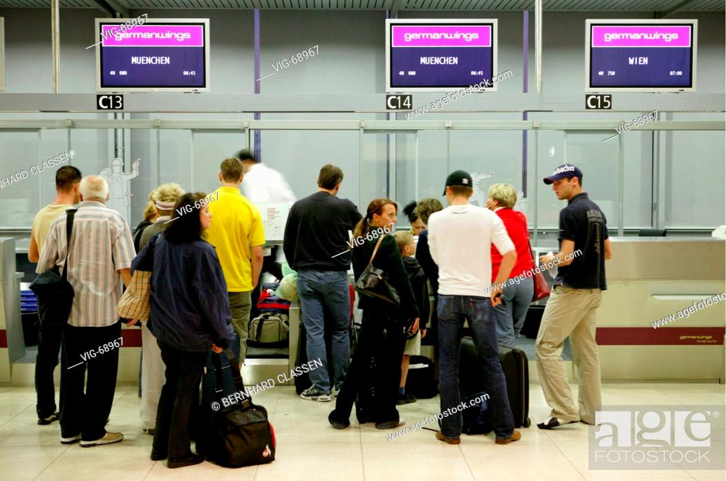 Check In Counter Of The Airline Company Germanwings In The Konrad