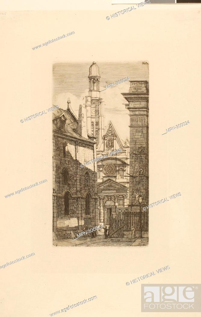 Imagen: Author: Charles Meryon. Church of St. Etienne du Mont, Paris - 1852 - Charles Meryon French, 1821-1868. Etching on ivory laid paper. France.
