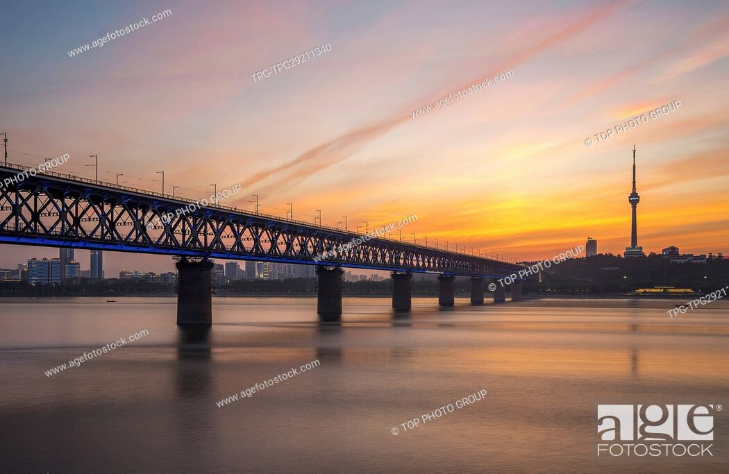 Imagen: Wuhan Yangtze River Bridge;Hubei;Wuhan;China.