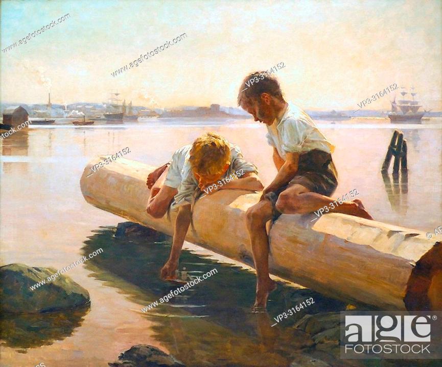 Stock Photo: Edelfelt Albert - the Little Boat.