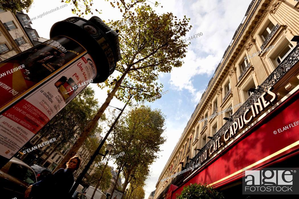 The Grand Cafe Capucines on Boulevard des Capucines, Paris, France ...