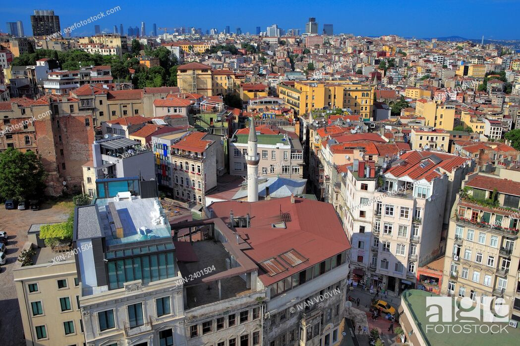 Photo de stock: Cityscape from Galata tower, Istanbul, Turkey.