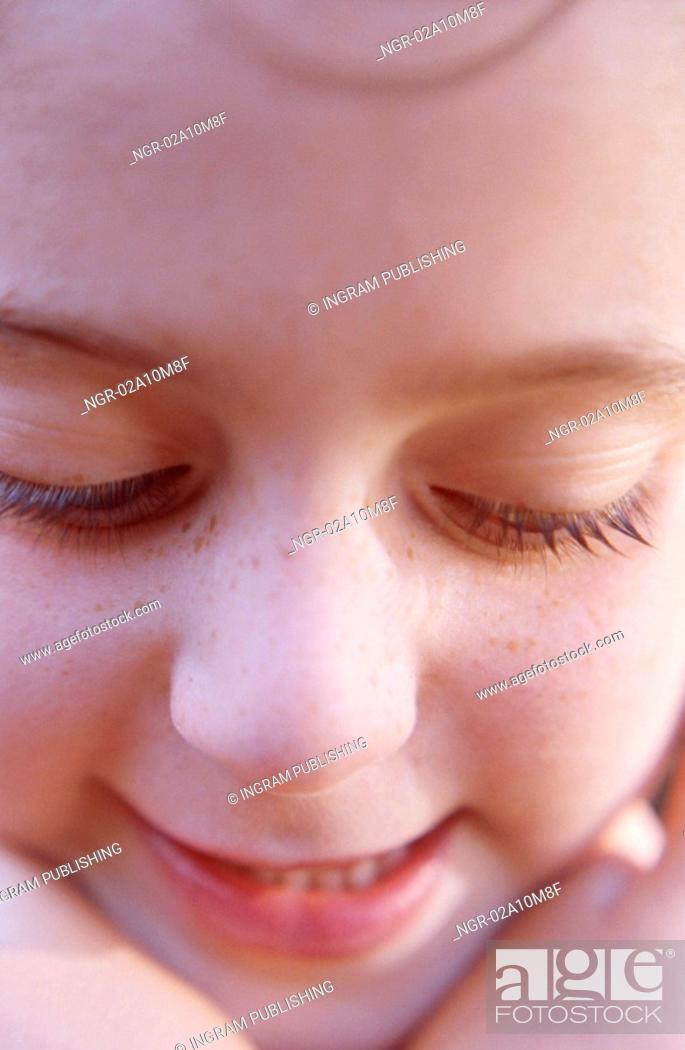 Stock Photo: Face of Young Girl.