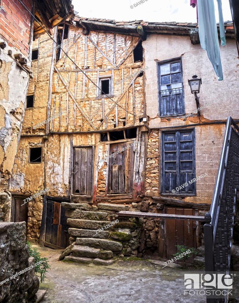 Imagen: Arquitectura tradicional. Sequeros. Sierra de Francia. Salamanca. Castilla León. España.