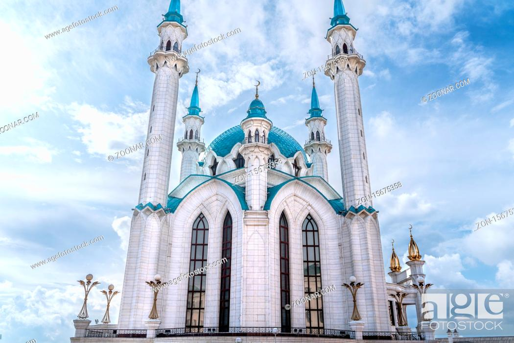 Stock Photo: Kazan/Russia-05.07.20:The view of kazan kremlin in tatarstan.