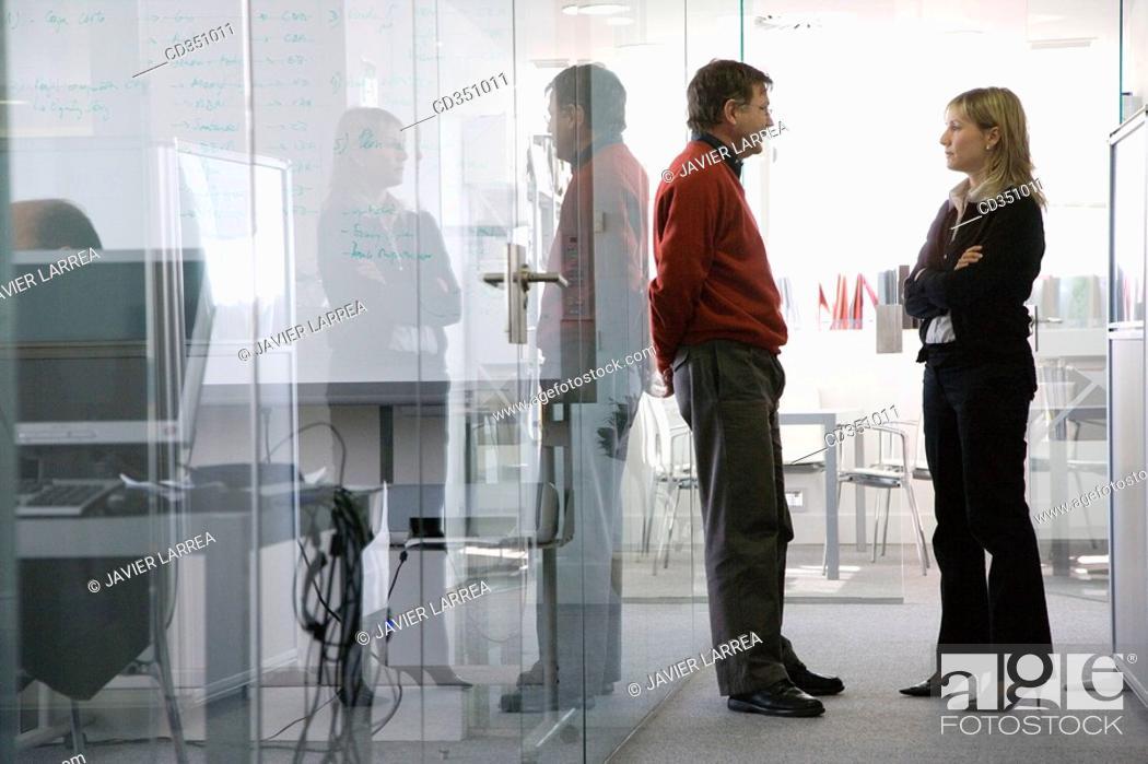 Stock Photo: Office, biopharmaceutical lab, Grupo Genetrix, Madrid.