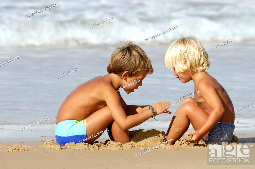 Stock Photo: sand friends.