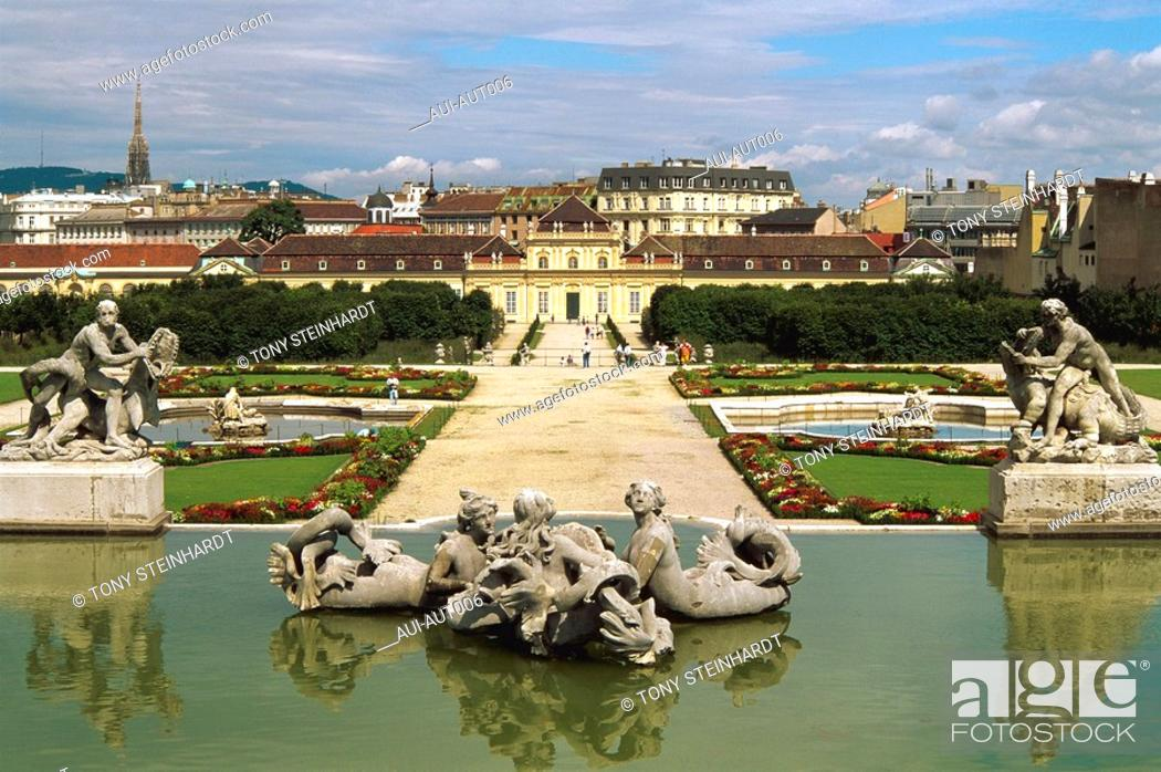 Stock Photo: Austria - Vienna - The Belvedere.