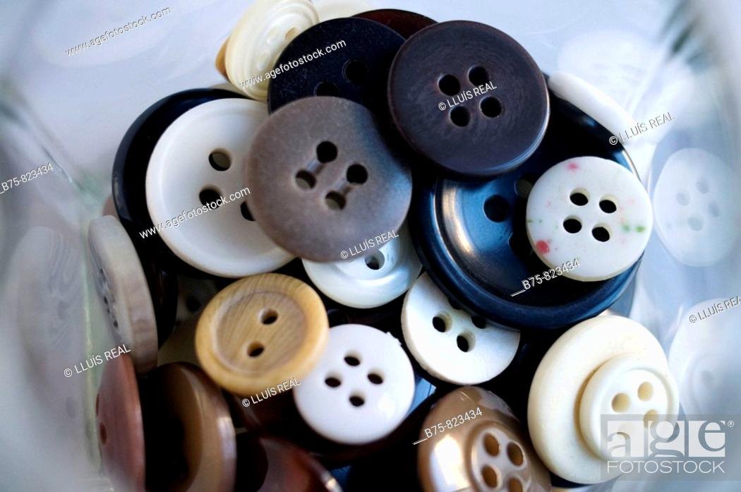 Stock Photo: botones, buttons.