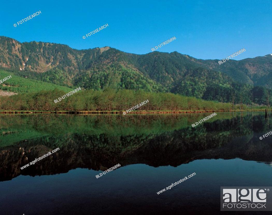 Stock Photo: outdoors, lake, scenic, river, natural world, mountain.