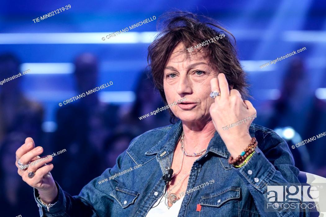 Stock Photo: Italian singer Gianna Nannini during the tv show Domenica in, Rome, ITALY-01-12-2019.
