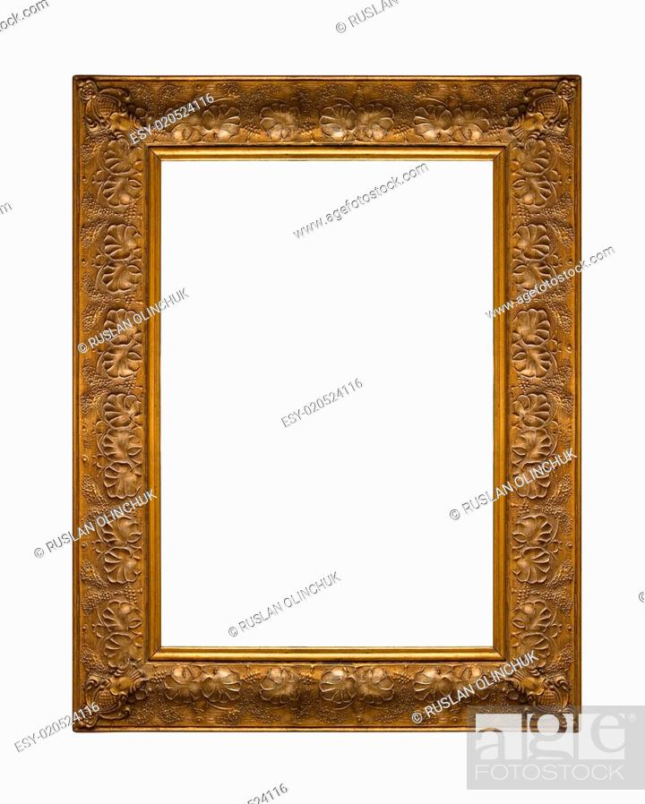 Stock Photo: Picture gold frame.