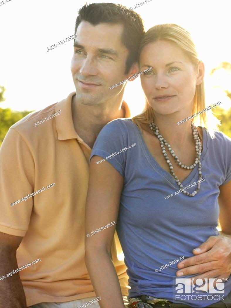 Stock Photo: Portrait of couple embracing.