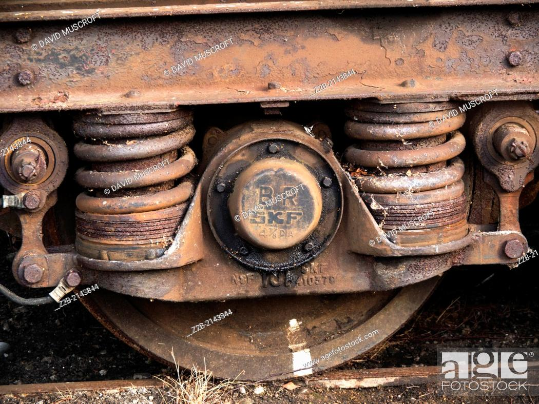 Stock Photo: Vintage train detail rust and derelict.