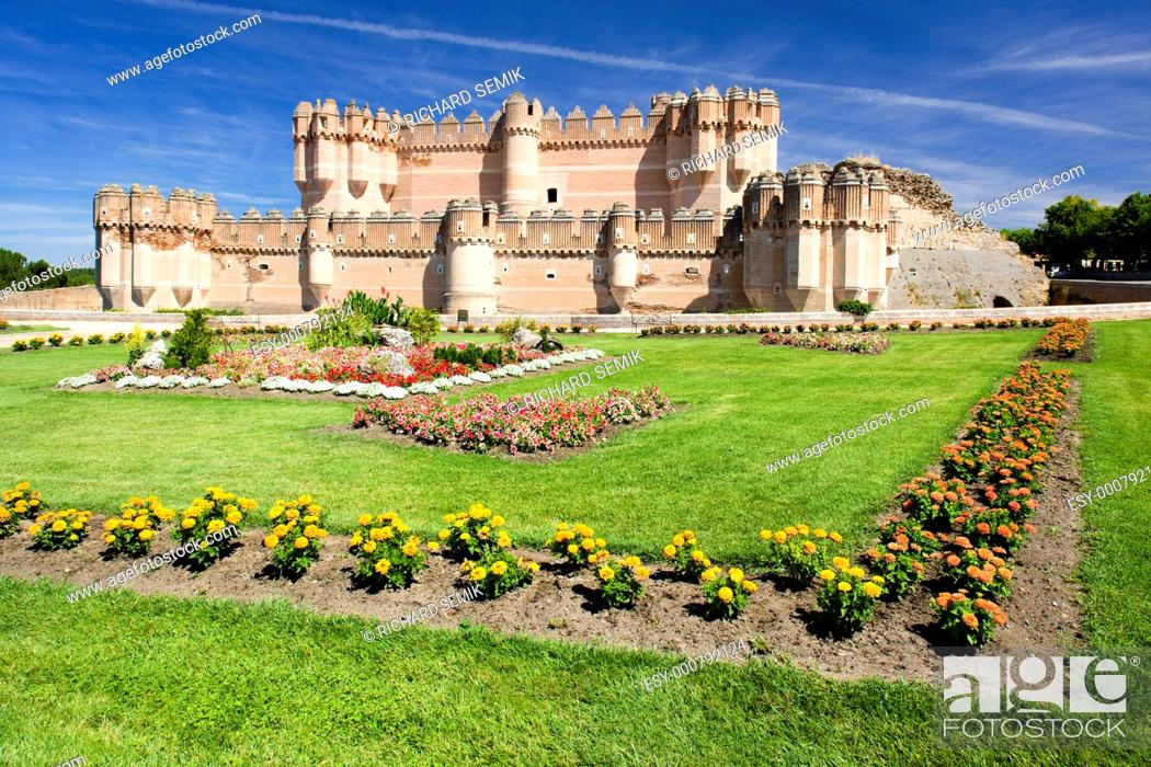 Stock Photo: Coca Castle, Segovia Province, Castile and Leon, Spain.