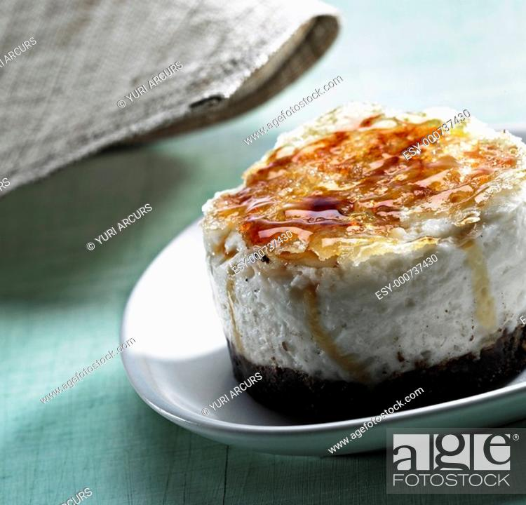 Stock Photo: Creme brulee - Gourmet dessert with roosted sugar on the top.