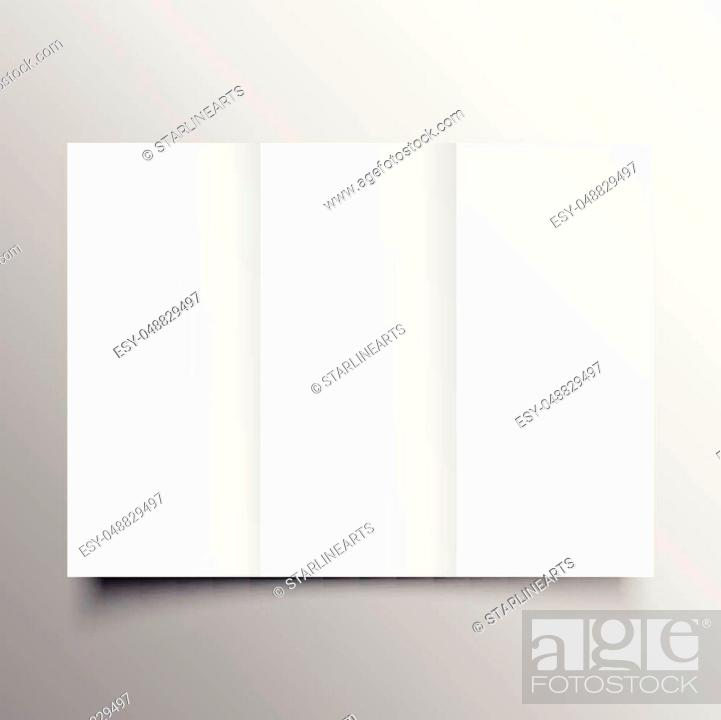 Stock Vector: trifold brochure mockup template.