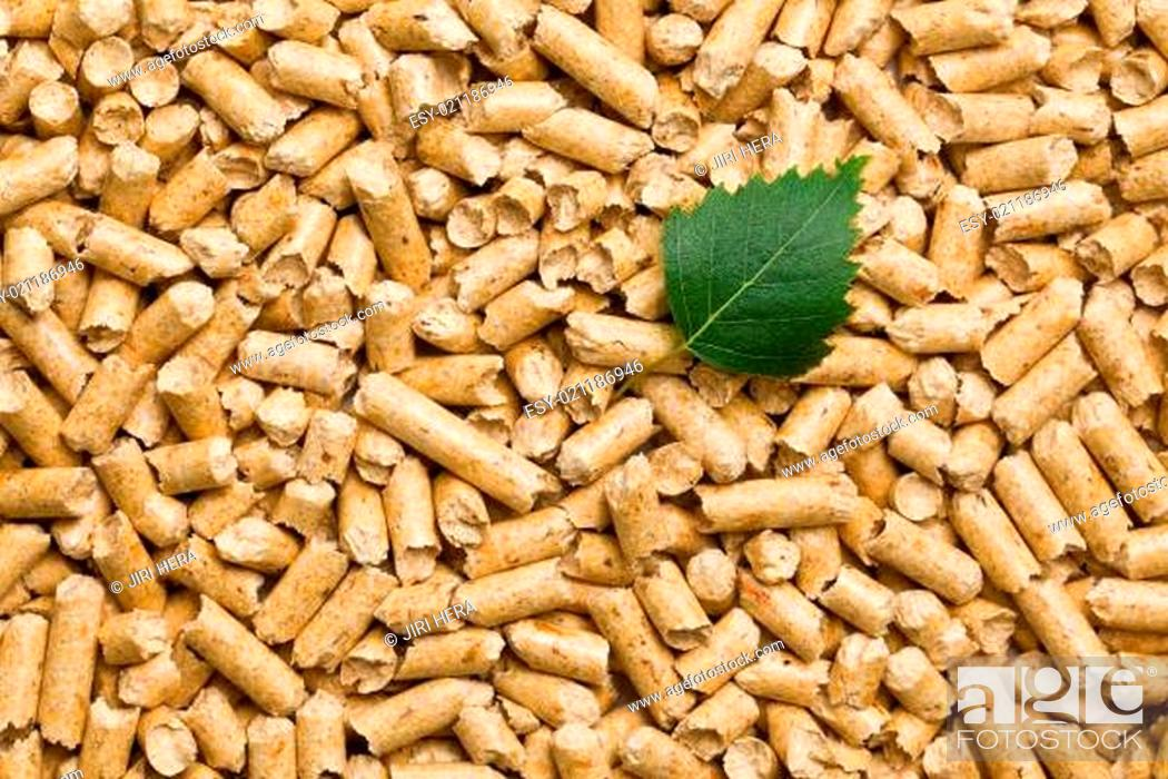 Stock Photo: the wooden pellets.