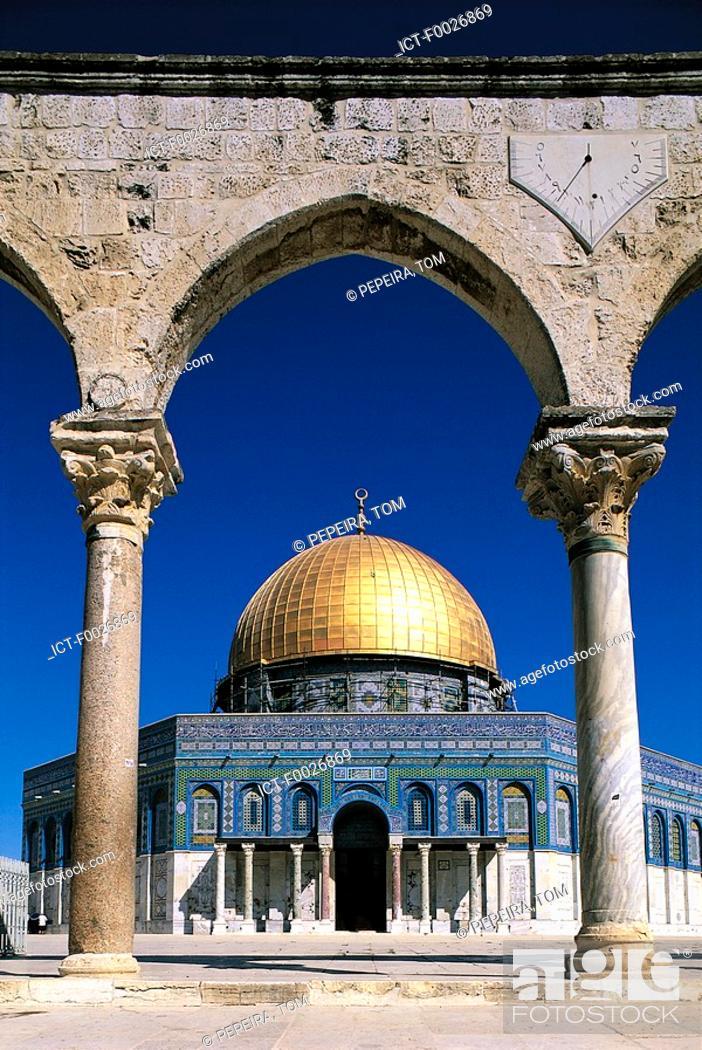 Stock Photo: Israel, Jerusalem, Dome of the Rock.