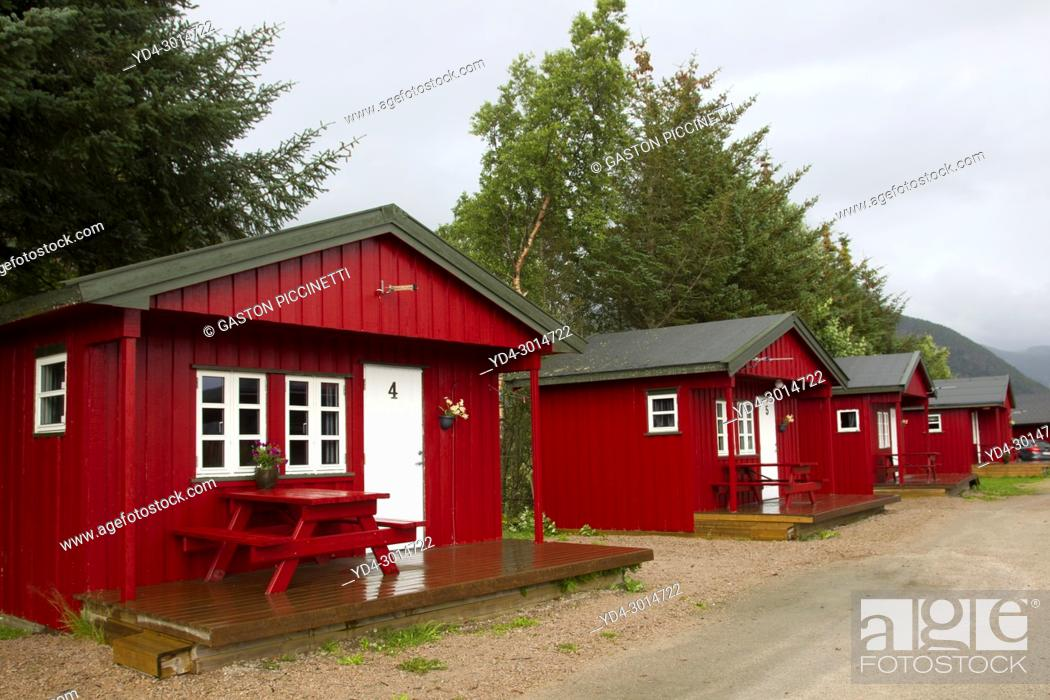 Cabins For Rent Nordland Norway Stock Photo Picture And