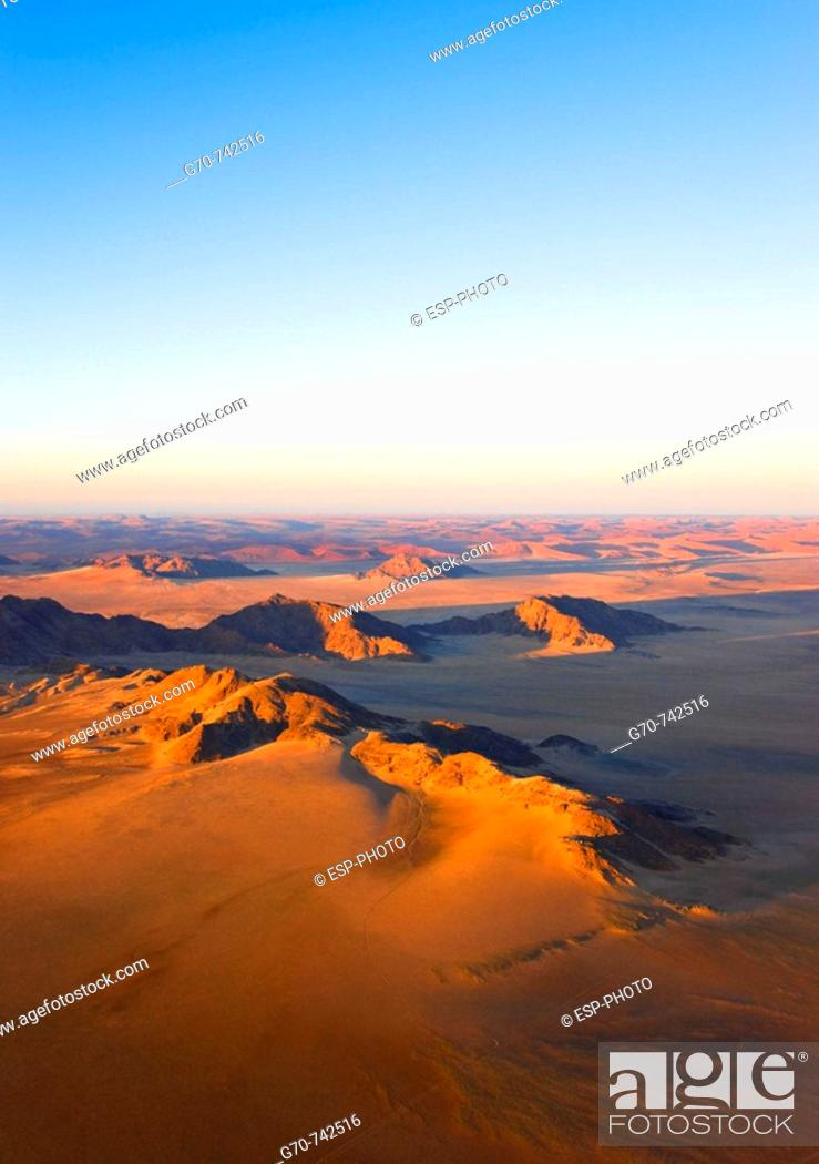 Stock Photo: Aerial view of Naukluft Park, Namibia.