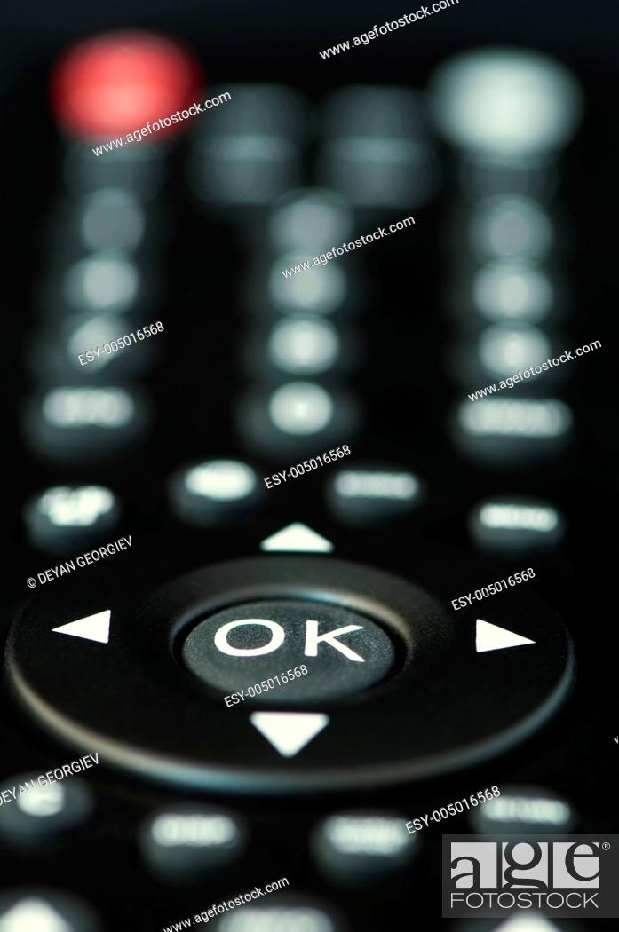 Stock Photo: Television remote control buttons.