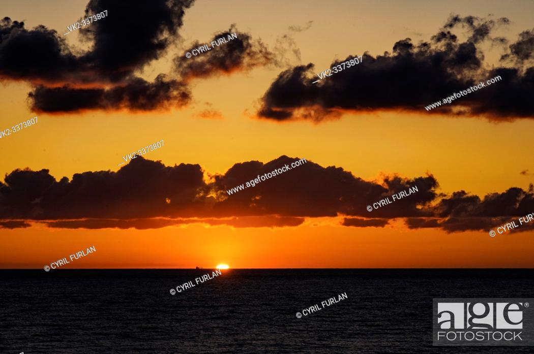 Stock Photo: Sun Rise Virginia Beach Virginia.