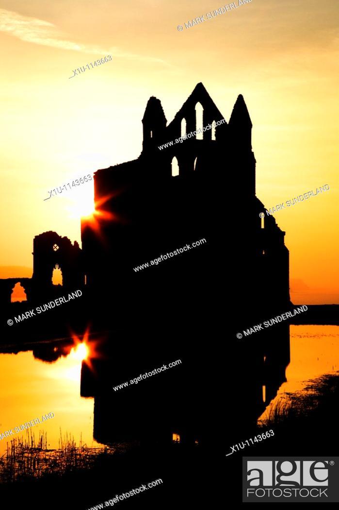 Stock Photo: Whitby Abbey Whitby Yorkshire England.