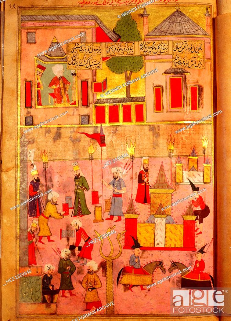 Page from the Sahansahname, a chronicle of Ottoman Sultans