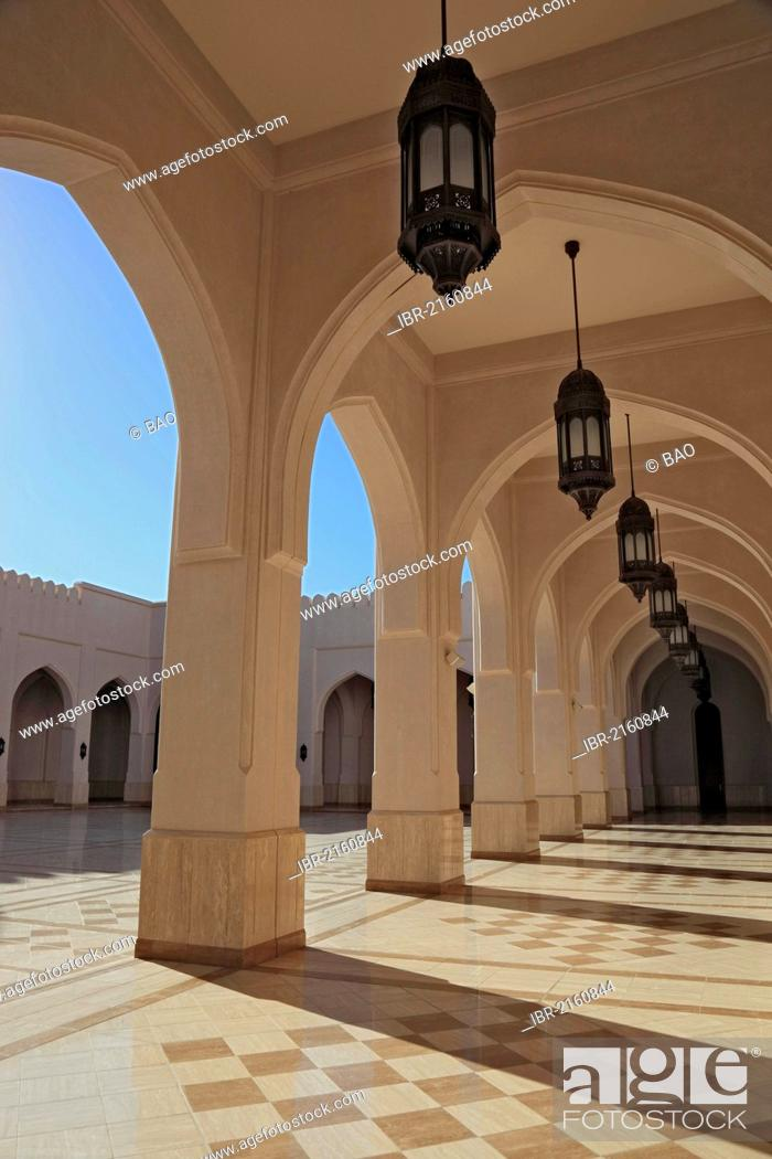 Stock Photo: Sultan Qaboos Grand Mosque, Friday Mosque, Salalah, Oman, Arabian Peninsula, Middle East, Asia.