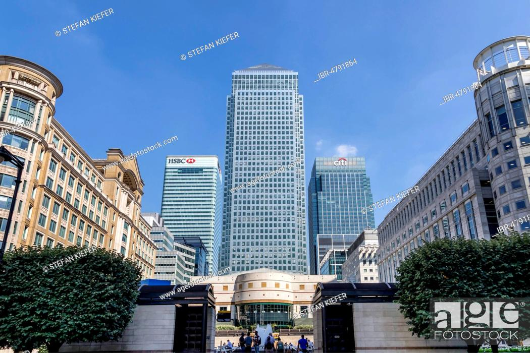 Canary Wharf Tower, headquarters of Citi Bank at Citigroup Centre