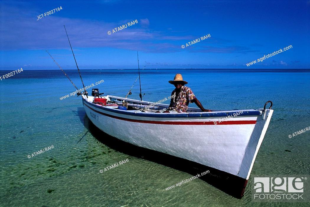 Stock Photo: Mauritius, Trou-aux-Biches, taxi-boat.