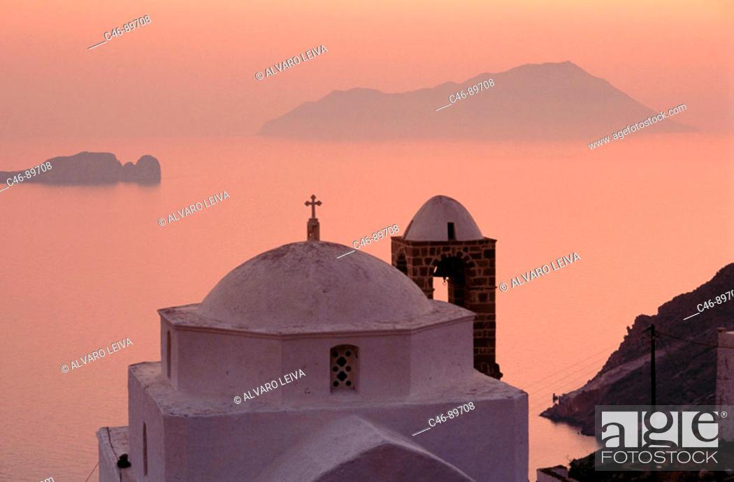 Stock Photo: Church, Milos. Cyclades islands, Greece.