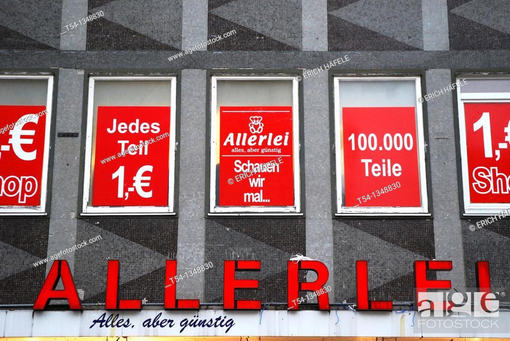Stock Photo: Allerlei Euro Shop in Munich.