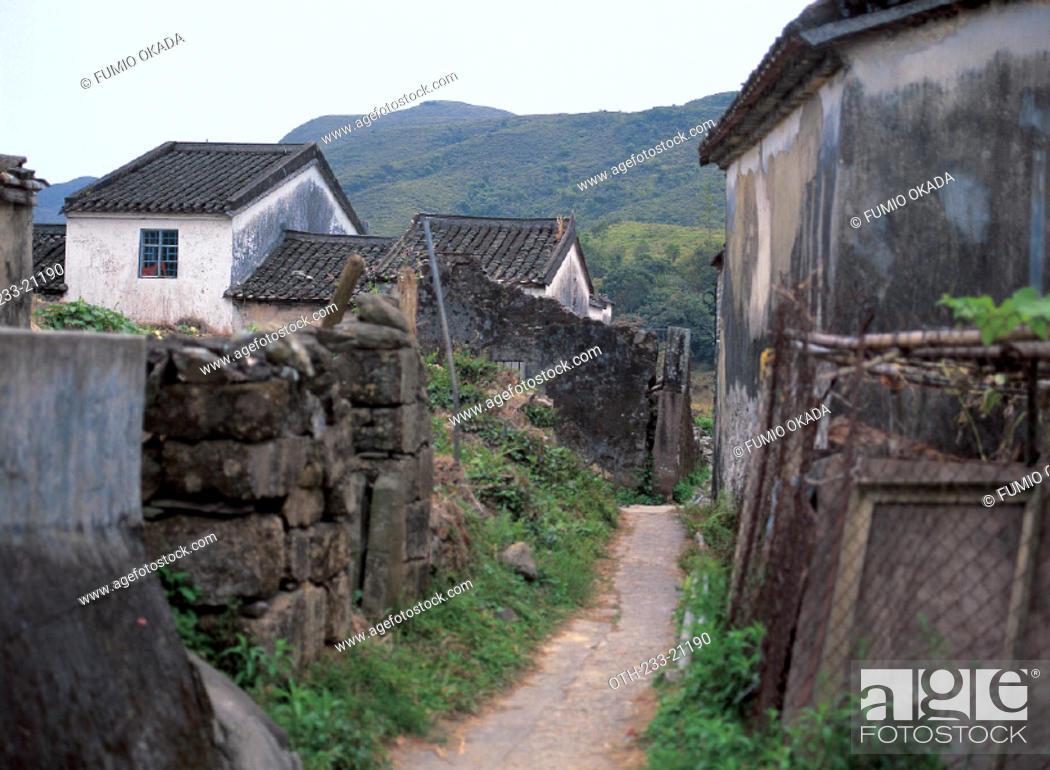 Stock Photo: Village Houses in Wu Kau Tang, New Territory, Hong Kong.