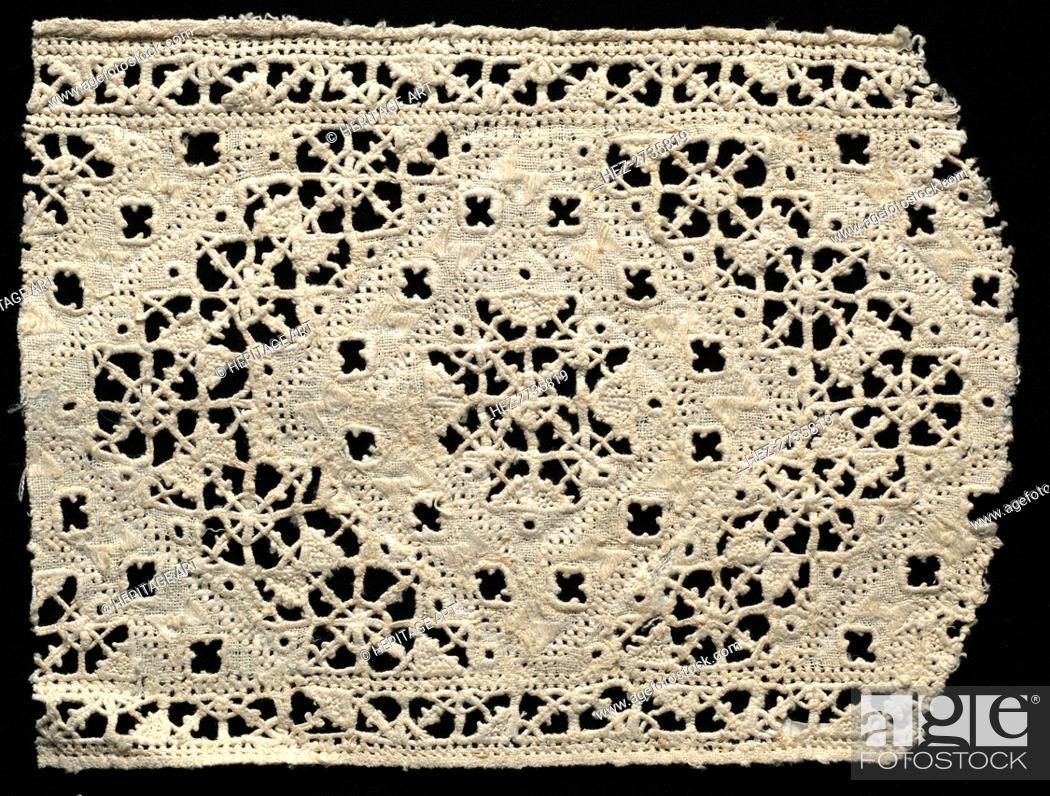 Imagen: Needlepoint (Cutwork) Lace Insertion, 16th century. Creator: Unknown.