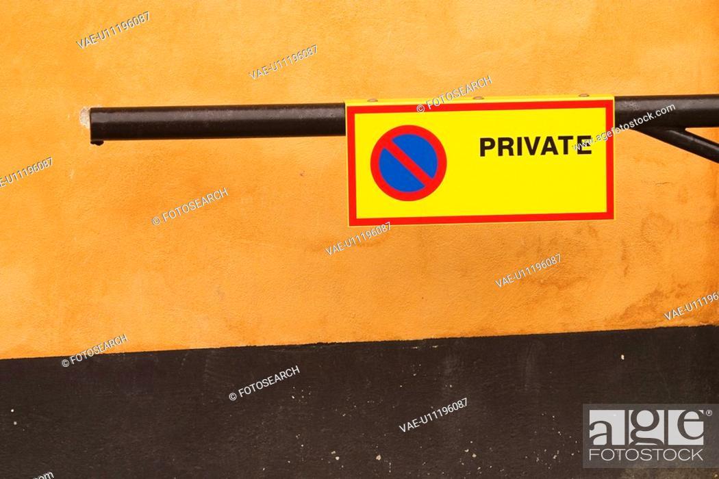Stock Photo: text, indication, information, advice, warning, caution.