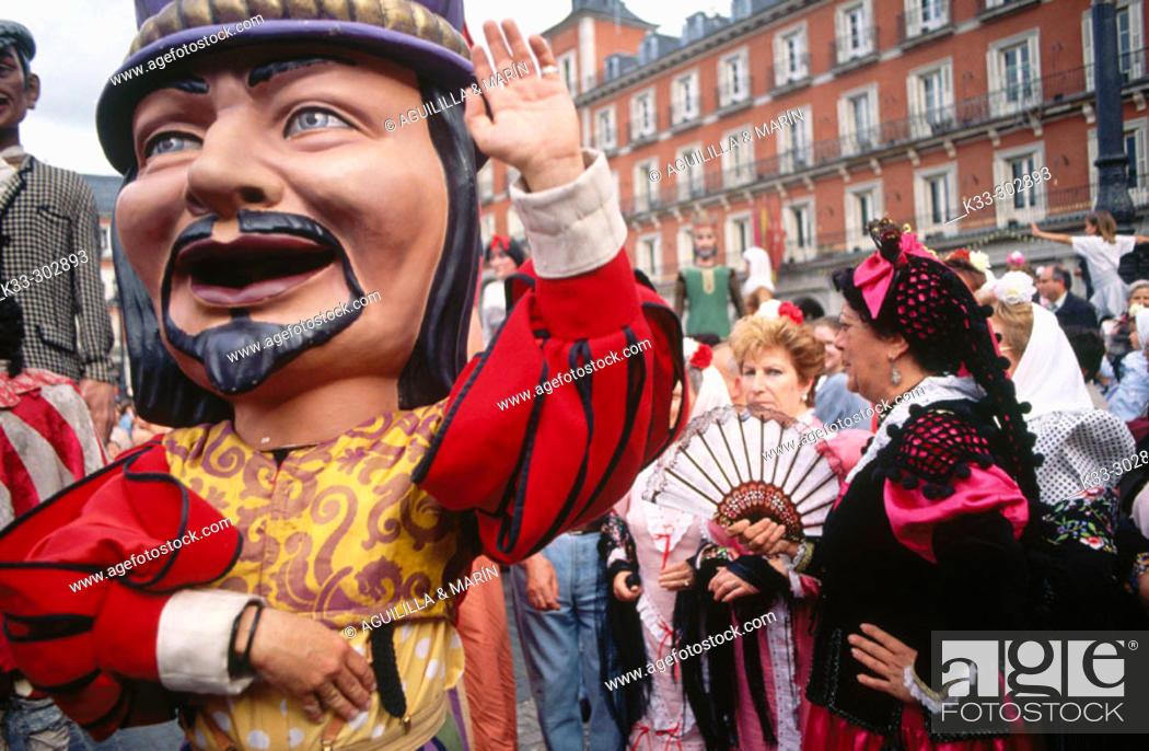 Stock Photo: 'Gigantes y cabezudos'. San Isidro Festival. Madrid. Spain.