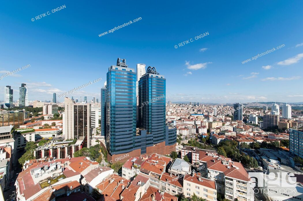 Stock Photo: Business centre and new and developing part of Istanbul.