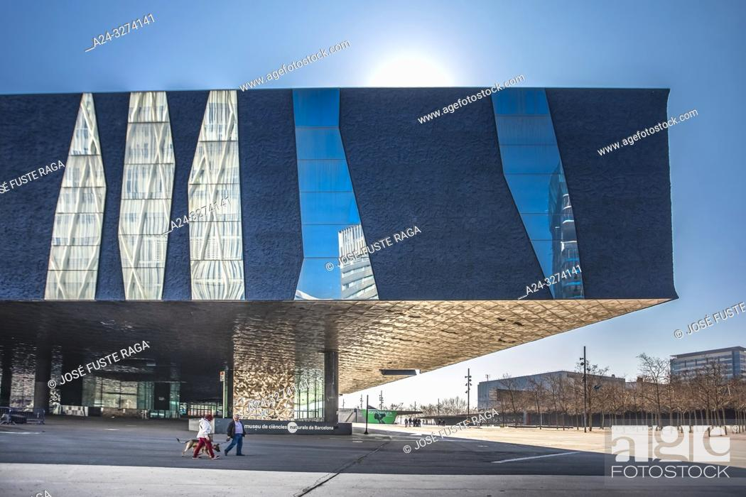 Stock Photo: Barcelona City, Diagonal Mar District, Forum Bldg.