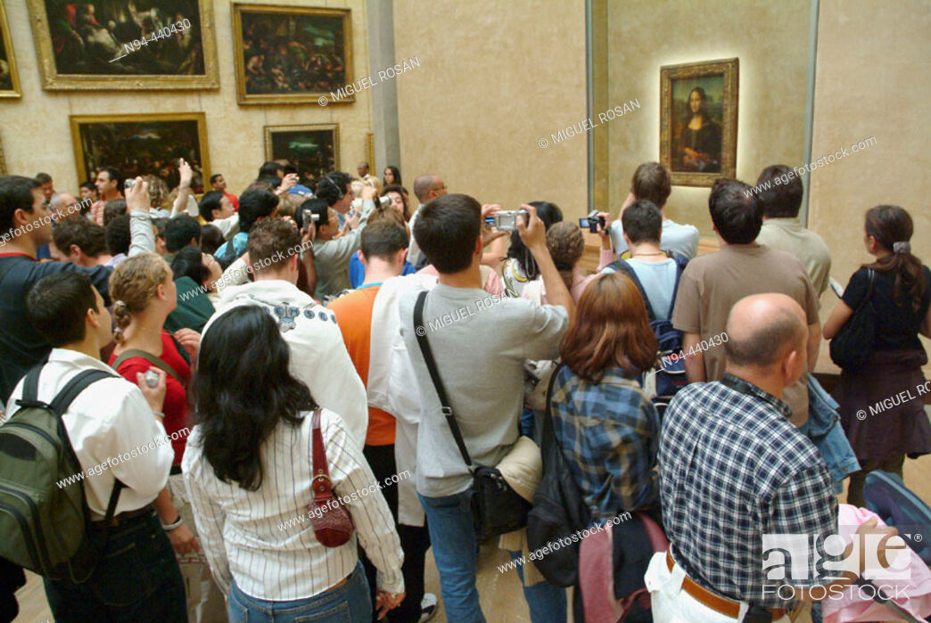 Stock Photo: 'Mona Lisa' (aka 'La Gioconda') in the Louvre Museum, Paris. France.