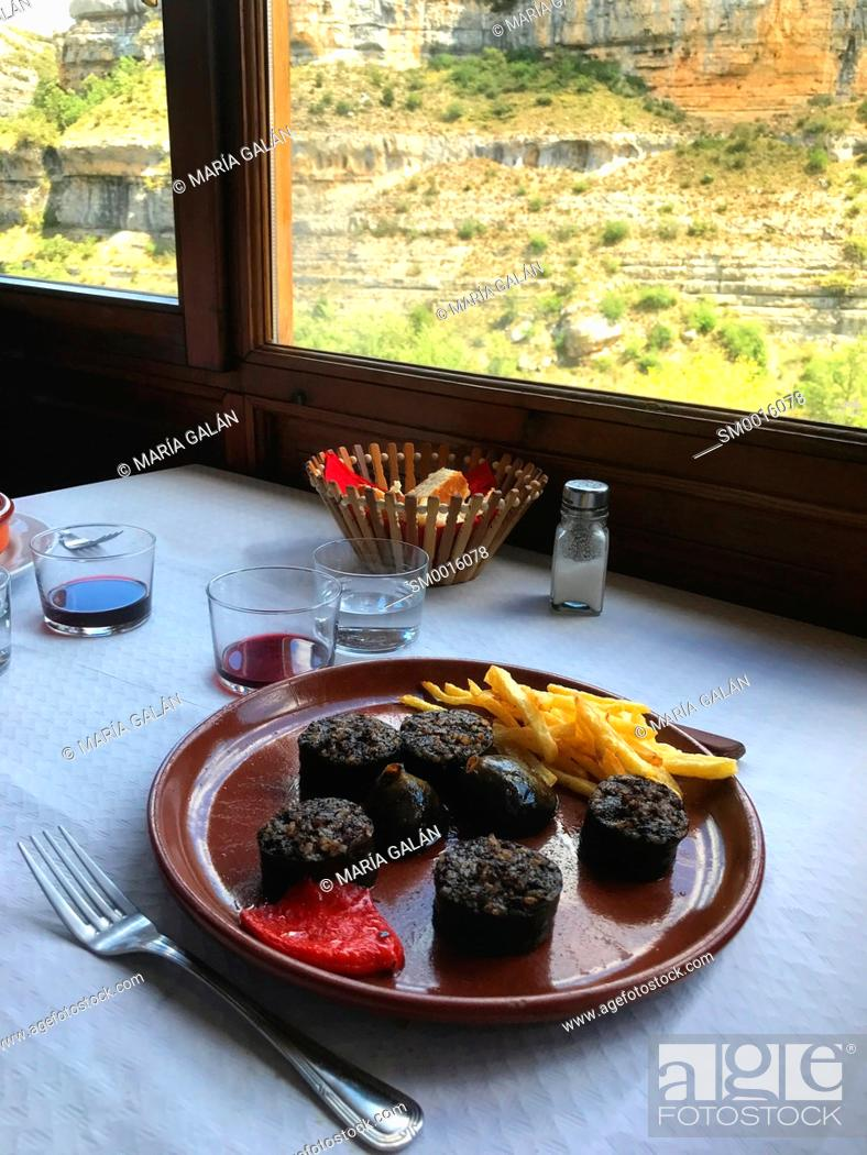 Stock Photo: Morcilla serving. Burgos, Spain.