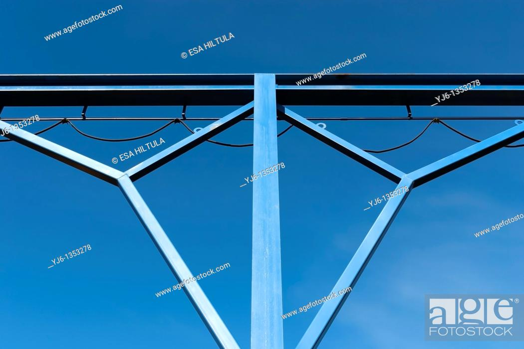 Stock Photo: Detail of metal junction.