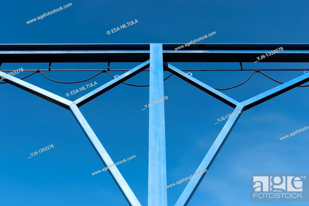 Stock Photo: Detail of metal junction.